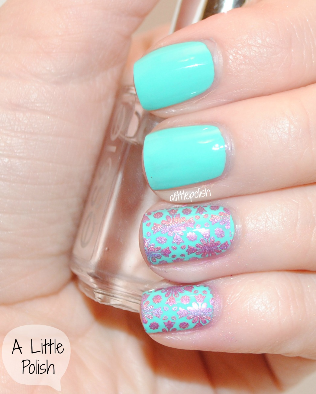 Two Week Nail Polish: A Little Polish: The Nail Challenge Collaborative Presents