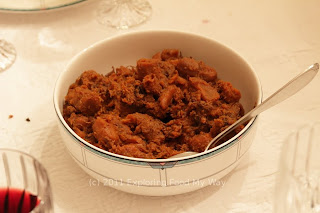 Carrot and Prune Tzimmes with Shredded Brisket