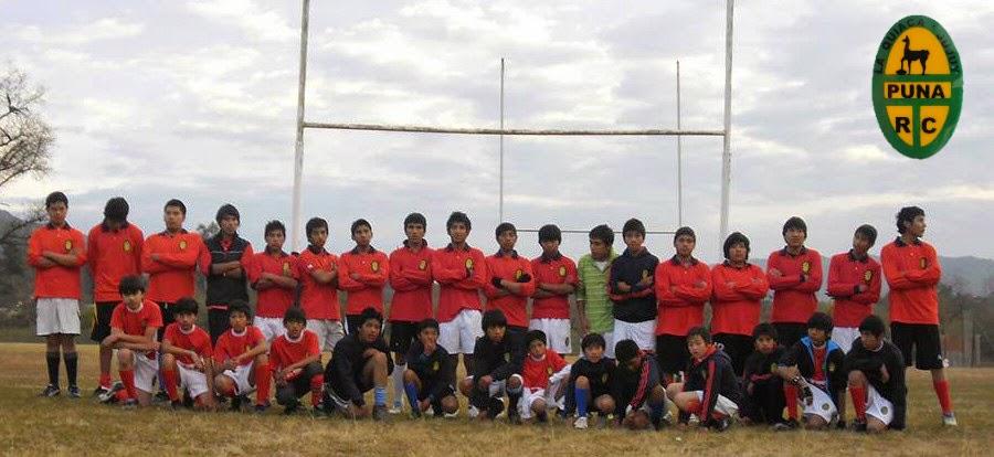 Equipo juvenil de Puna Rugby Club de La Quiaca
