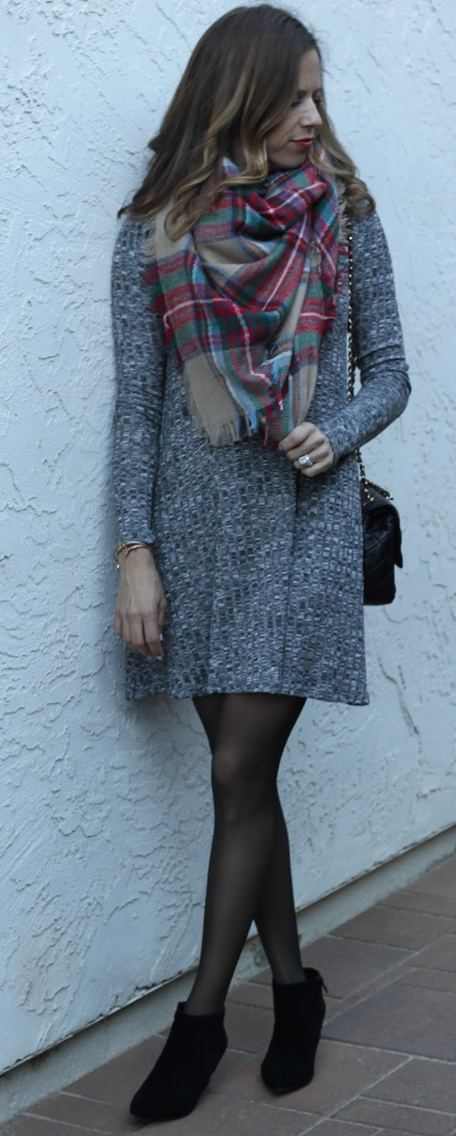 blanket scarf and booties