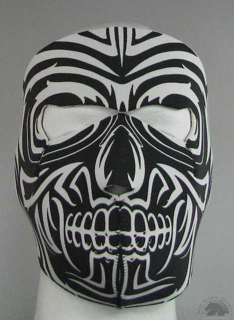 Tribal moko neoprene face mask