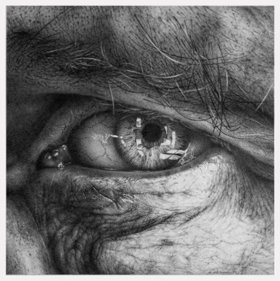 Armin Mersmann desenhos lápis hiper-realistas retratos olhos