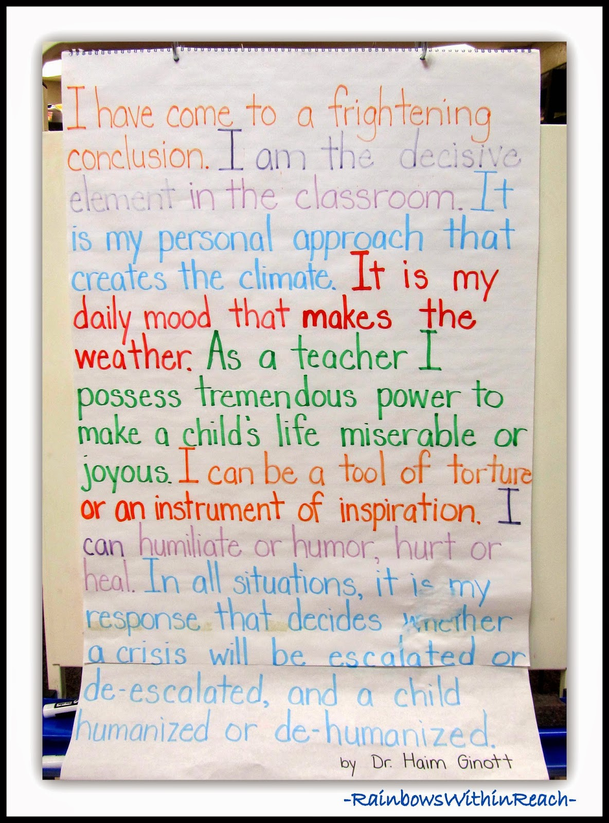 71 Examples of Classroom Rules: RoundUP at RainbowsWithinReach