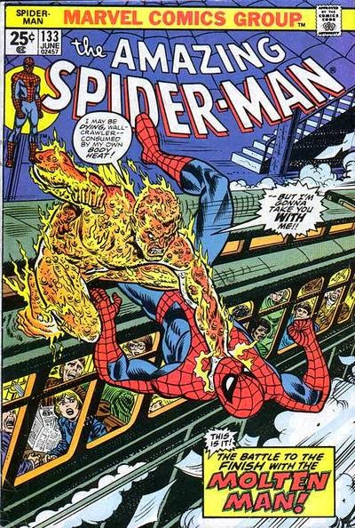 Amazing Spider-Man #133, the Molten Man