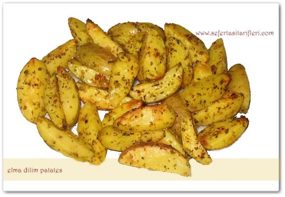 FIRINDA PATATES KIZARTMASI TARIFI (elma dilim patates)
