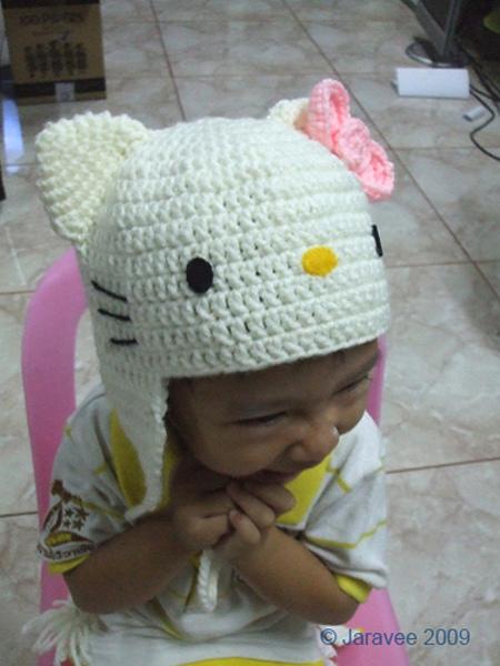Hello Kitty En Gorro De Crochet