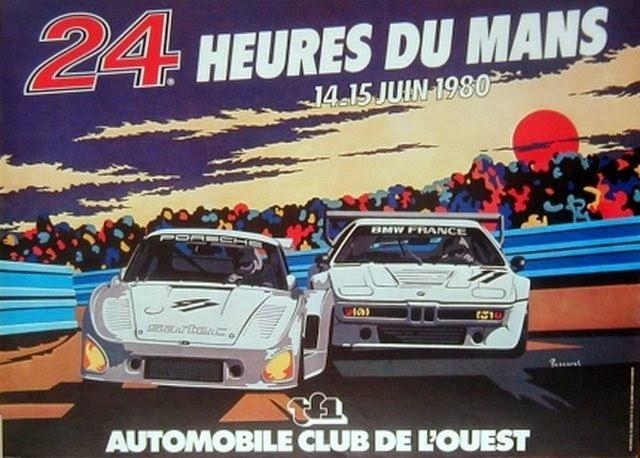 Affiche officielle des 24 Heures du Mans 1980