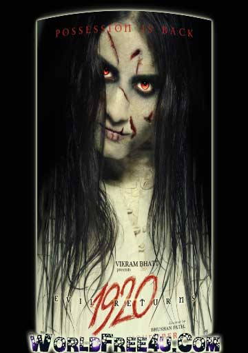 Poster Of Hindi Movie 1920 Evil Returns (2012) Free Download Full New Hindi Movie Watch Online At worldfree4u.com