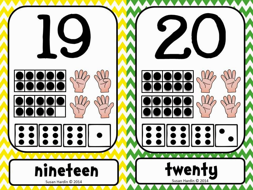 http://www.teacherspayteachers.com/Product/Number-Posters-and-Cards-1-20-Primary-Chevron-ten-frame-counting-fingers-dice-1288247