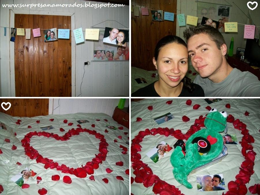 Varal de mensagens Surpresas para Namorados ~ Surpresa Para Namorada No Quarto Dela