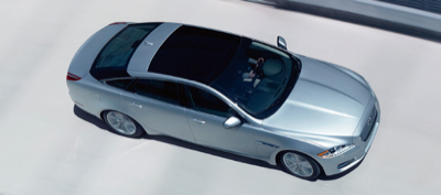 2013 Jaguar XJ aerial view
