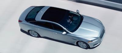 2013 Jaguar XJ aerial view