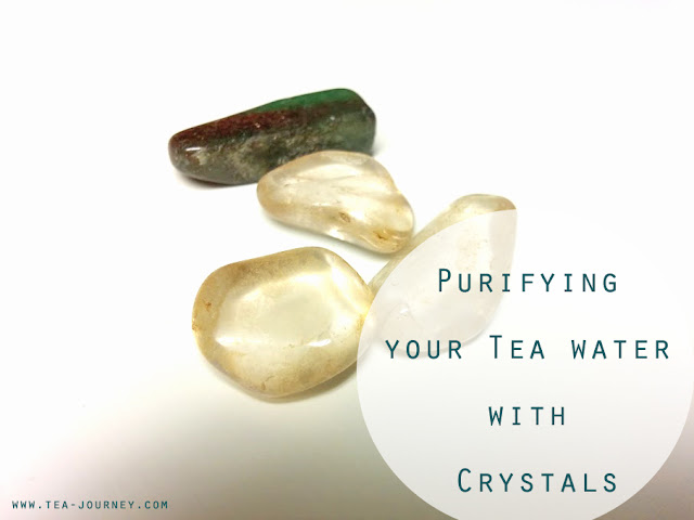 Purify your tea water with crystals. Infuse your crystals by cleansing them with good energy and brew with your tea. Give it a good qi (energy) for every cup.