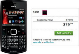 Nokia X2-01 QWERTY candybar phone for T-Mobile