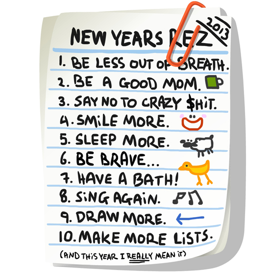 i still need to get better at saying no if you had to pick one personal goal for 2013 what would it be happy new year
