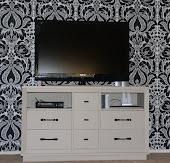 Vintage Dresser & TV Space