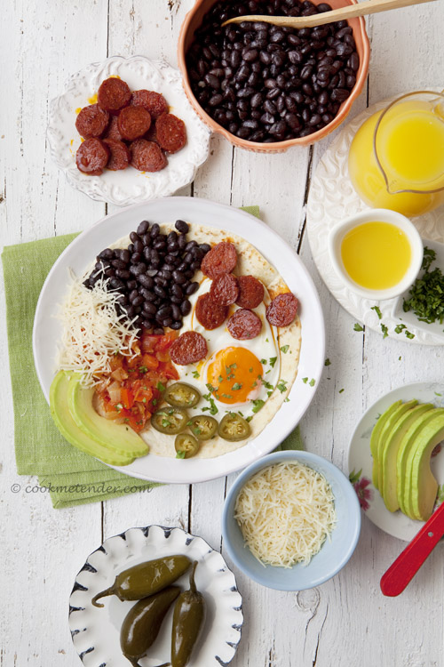 Cook me tender: Huevos rancheros con chorizo ecológico La Gleva