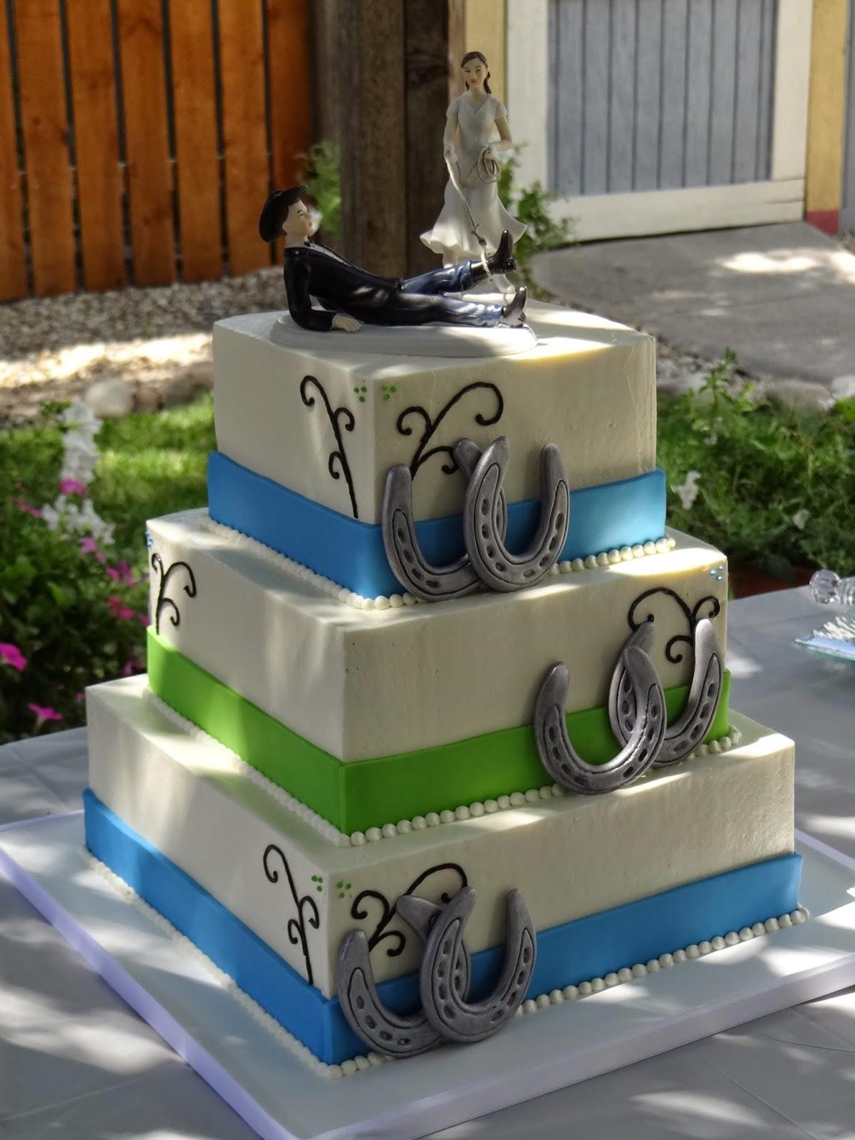 Tiers of Joy Cakery Country Horse Shoe Wedding Cake
