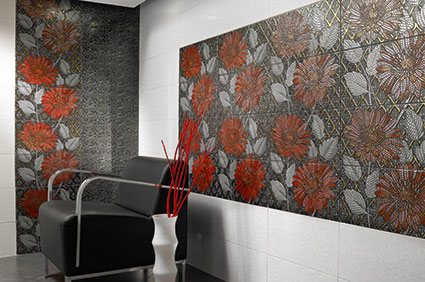 desain keramik dinding ruang tamu rancangan desain rumah