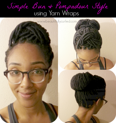 Beautifully Curled: Simple Bun and Pompadour Style