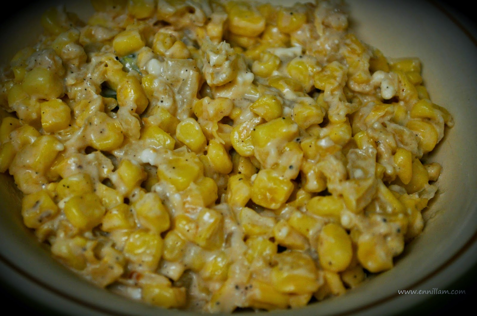 Creamy corn stir fry
