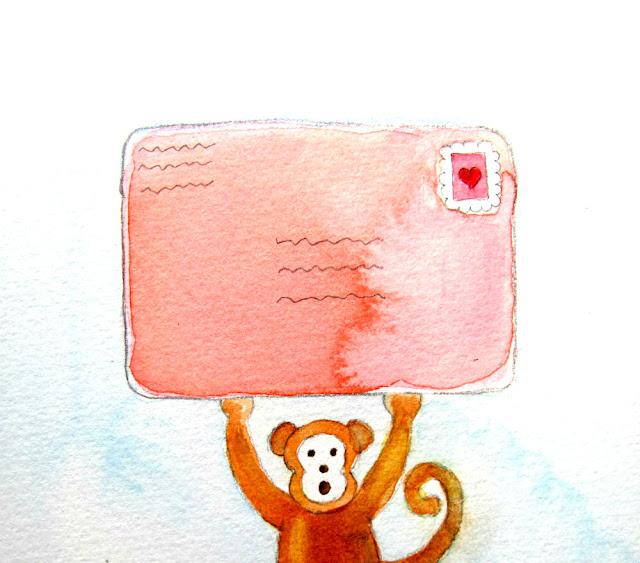 monkey mail envelope letter valentine email