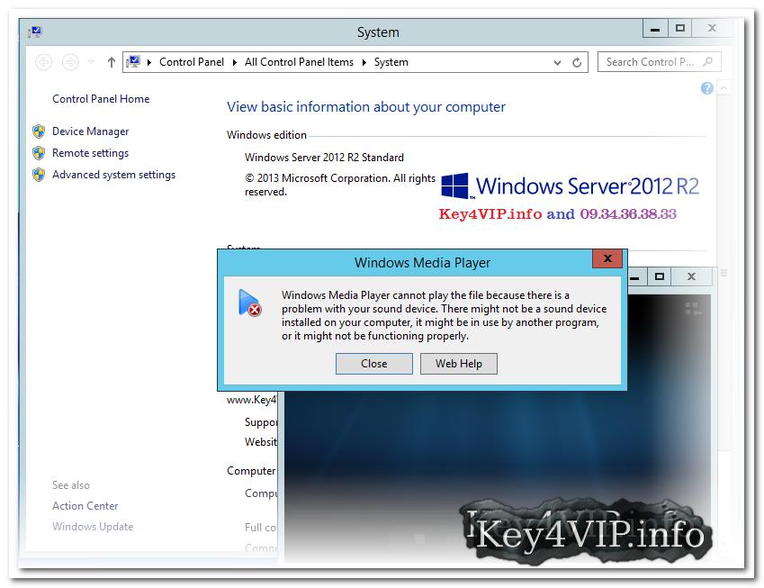 Hướng dẫn Active chế độ Sound Card trên Windows Server 2008 R2 và Windows Server 2012 R2