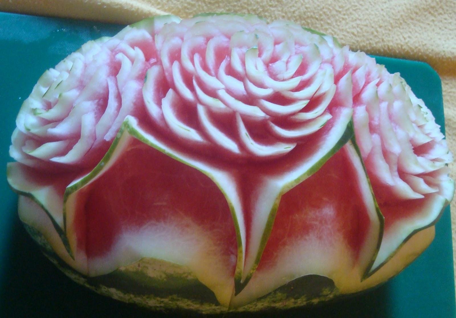 Decoraciones para eventos con frutas tallado de sandia - Decoracion de frutas ...