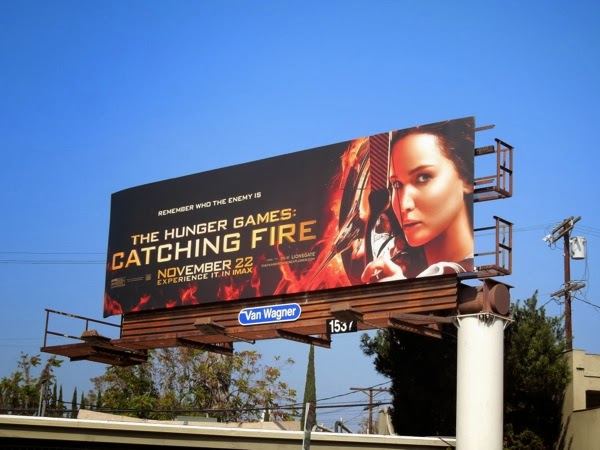 Hunger Games Catching Fire katniss billboard