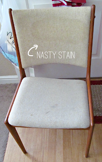 Drab to Draper: Mad Men Inspired Mid-Century Chair Makeover | It's Always Ruetten | #Madmen #Draper #MCM #mid-century #retro #chair