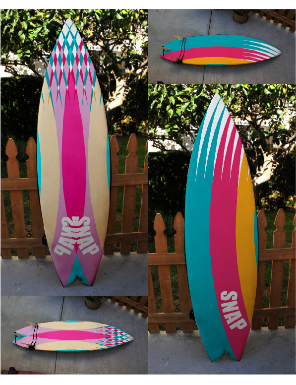 Nadia alba dise o de tablas de surf snap - Tablas de surf decorativas ...