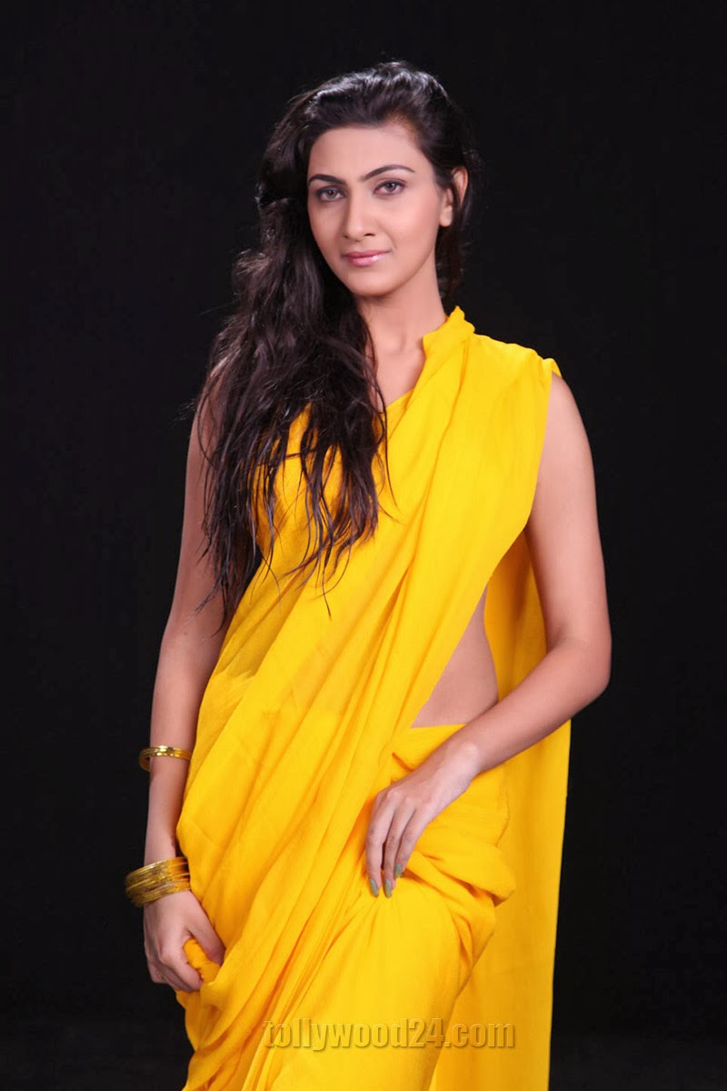 Neelam Upadhyay photos in Yellow saree from Action-HQ-Photo-3