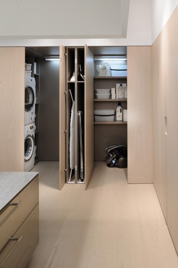 Cocina minimalista con una perspectiva contempor nea decoraciones de cocinas - Moderne wasruimte ...