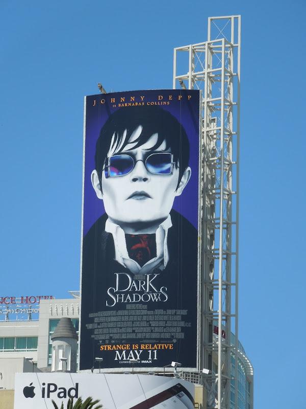 Johnny Depp Dark Shadows billboard
