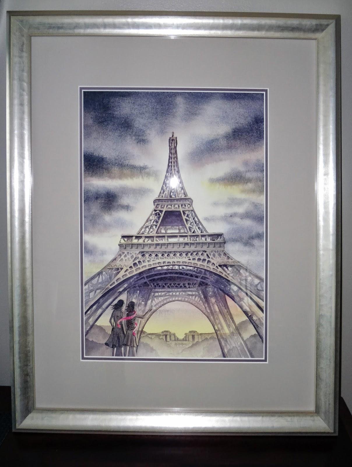 evening in Paris watercolor
