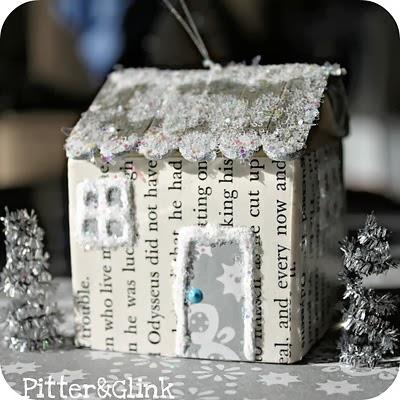 Casa de papel y cartón para Navidad en Recicla Inventa