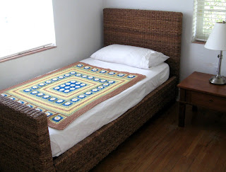 مفرش سرير كروشيه روعه وسهل