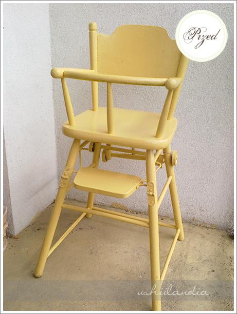 stare dziecinne krzesełko do karmienia