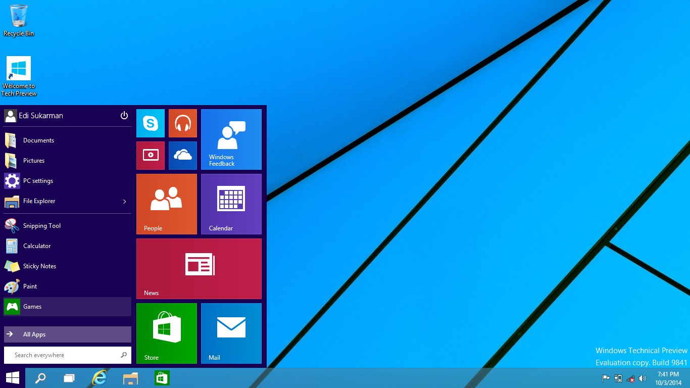 Free Download Windows 10 Technical Preview