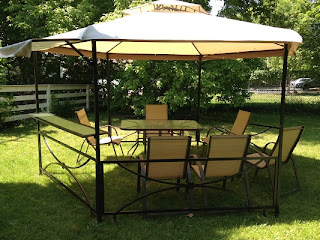 Image: 11 ft x 13 ft hexagonal Gazebo