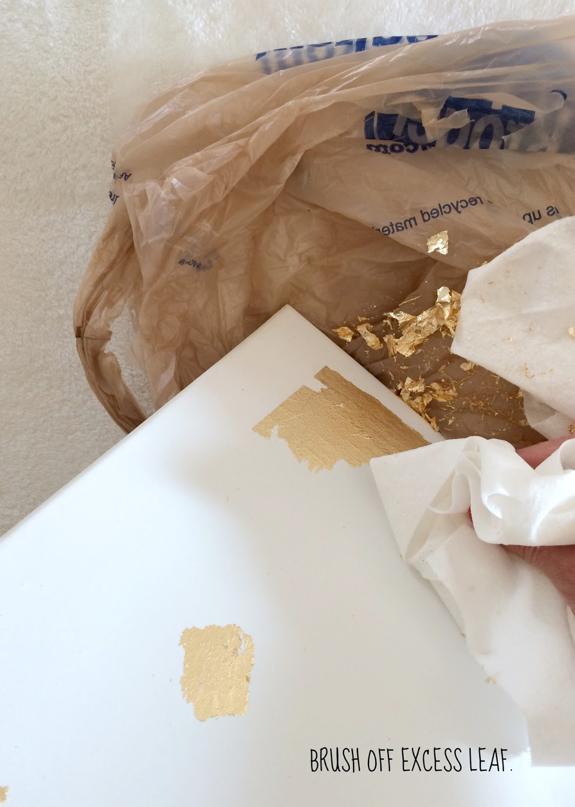 How To Make DIY Gold Leaf Abstract Art | LiveLoveDIY ... - photo #22