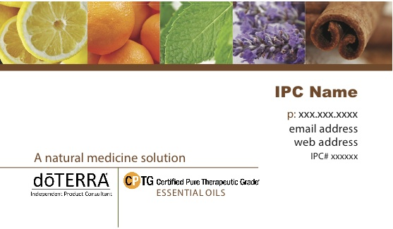 Doterra ipc business cards essential oils business cards brown cheaphphosting Image collections