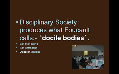 foucault docile bodies Foucault's idea that the body and sexuality are cultural constructs rather than   thus, discipline produces subjected and practiced bodies, docile bodies'.