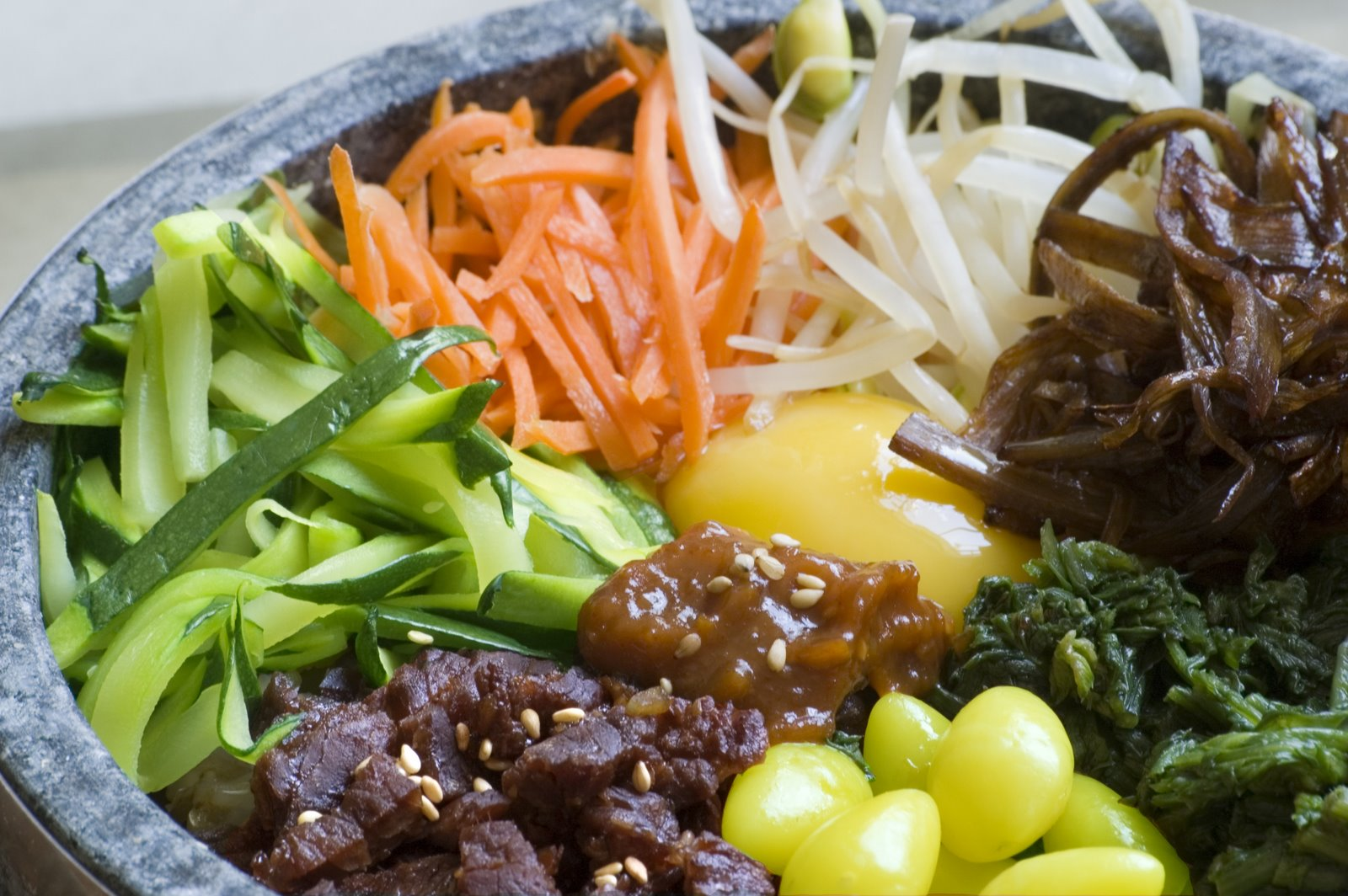Recette du bibimbap for Cuisine coreenne