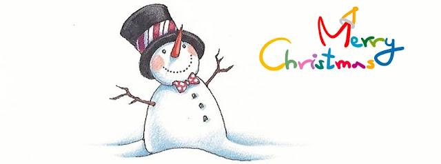 ảnh bìa facebook người tuyết noel đón giáng sinh
