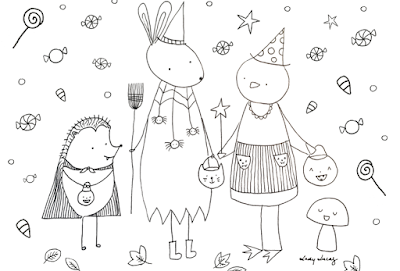Halloween Coloring Sheet Freebie