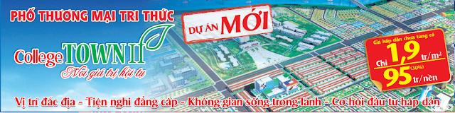 Phố thương mại College Town, đối diện trường đại học Thủ Dầu Một, chỉ 1. 9tr/ m2.