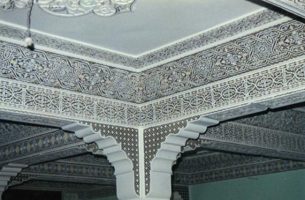 Platre Maroc Photo : Découvrir le maroc les plafonds aux neqch beldi