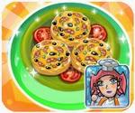 Làm bánh pizza xúc xích, game ban gai