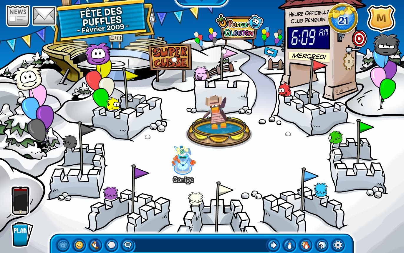 Club penguin conige f te du 10e anniversaire de club penguin - Club penguin gratuit ...